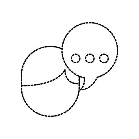 avatar speech bubble talking dialog message vector illustration