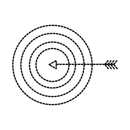 ターゲット ビジネスの目標概念を押す矢印ベクトル イラスト  イラスト・ベクター素材