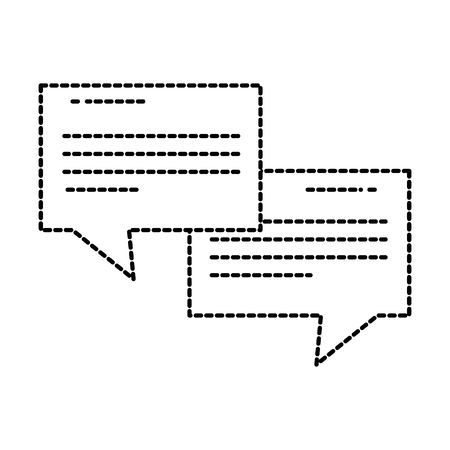 talking speech bubbles dialogue chat social media symbol vector illustration Illustration