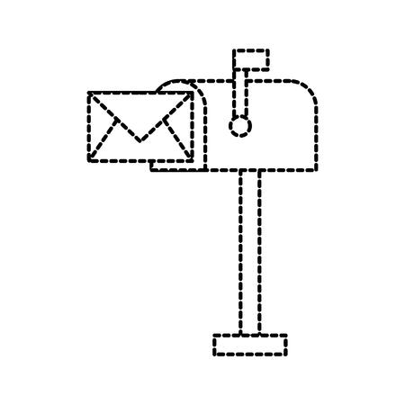 mailbox envelope message letter communication vector illustration Illustration