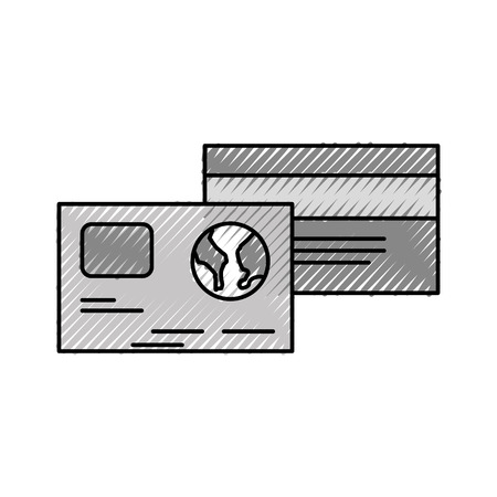 credit debit card banking shop vector illustration Stock Vector - 87672517