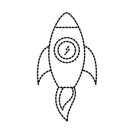 business rocket start launch success concept vector illustration