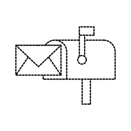 mailbox envelop bericht brief communicatie vectorillustratie Stock Illustratie