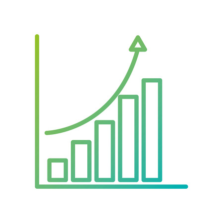 financial graph chart bar arrow growth concept vector illustration  イラスト・ベクター素材