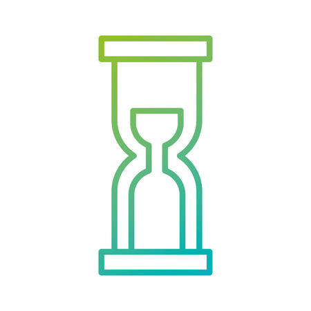 business time management hourglass and finance clock vector illustration Çizim