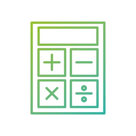 비즈니스 계산기 도구 금융 수학 아이콘 벡터 일러스트 레이션