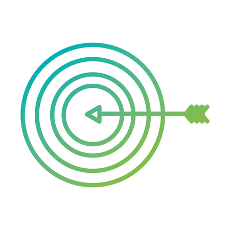 arrow hitting a target business goal concept vector illustration