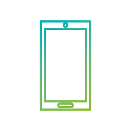 smartphone display technology device gadget icon vector illustration 向量圖像