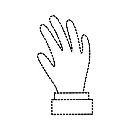 hand showing five fingers gesture icon vector illustration Ilustração