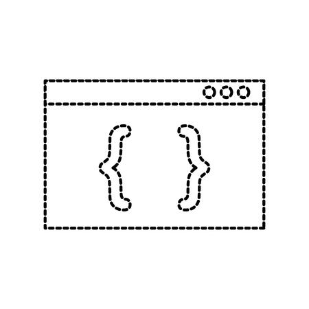 coding computer website programming language page vector illustration