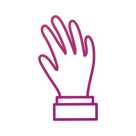 hand showing five fingers gesture icon vector illustration Illustration