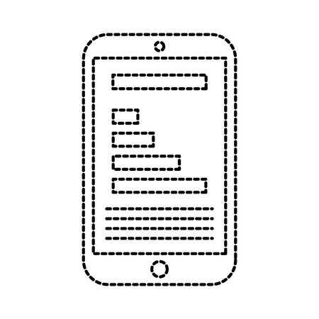 mobiele telefoon apparaat digitale sociale media vector illustratie Stock Illustratie