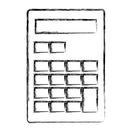 calculator math isolated icon vector illustration design