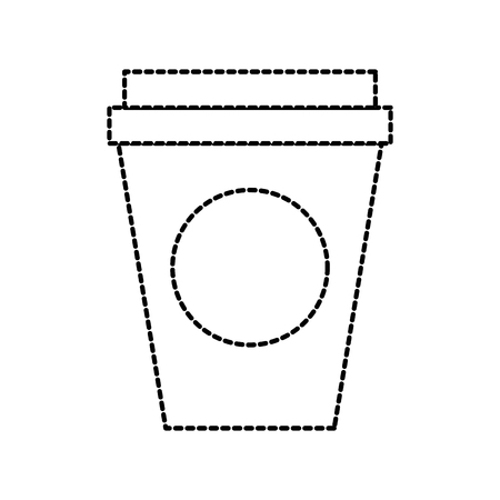 portable paper coffee cup for breakfast office vector illustration