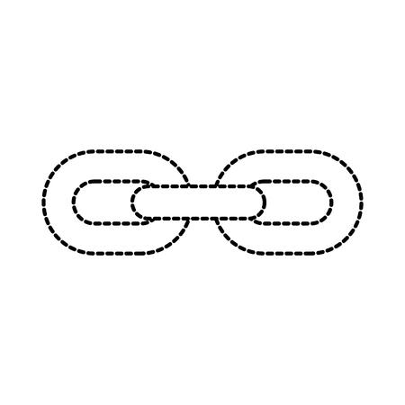チェーン リンク接続強い hyperllink アイコン ビジネス概念ベクトル図  イラスト・ベクター素材