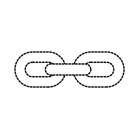 chain links connection strong hyperllink icon business concept vector illustration