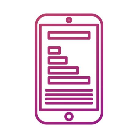 携帯電話デバイス デジタル ソーシャル メディア ベクトル イラスト
