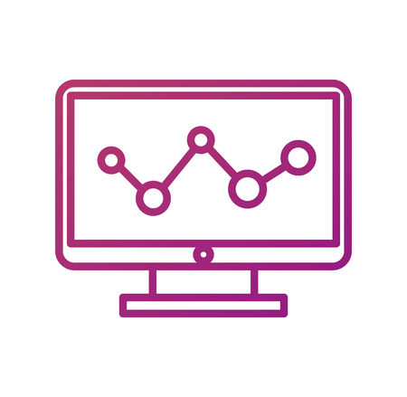 コンピューター ソリューション歯車接続デバイス ベクトル図  イラスト・ベクター素材