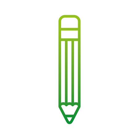 pencil school supply back to school icon vector illustration
