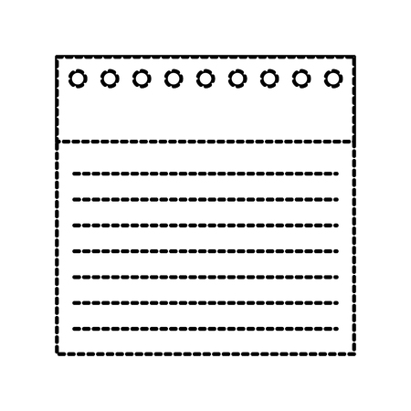 terug naar school notebookpapier bekleed gaten vectorillustratie Stock Illustratie