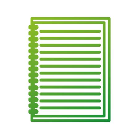 terug naar school leeg bekleed notebook onderwijs vectorillustratie