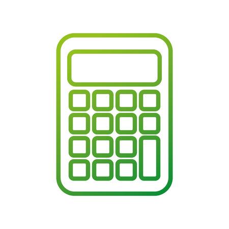 학교 계산기 수학 회계 아이콘 벡터 일러스트 레이션