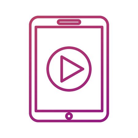 技術タブレット デバイス映画プレーヤー ボタン オンライン ベクトル図