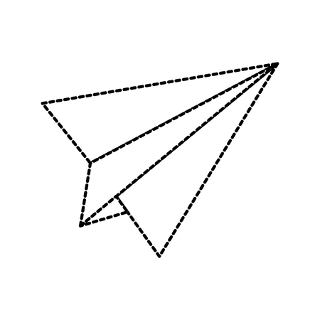 back to school paper plane advertising concept vector illustration Illusztráció