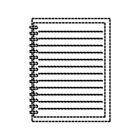 Torna a scuola vuoto foderato notebook illustrazione vettoriale educazione Archivio Fotografico - 87673381