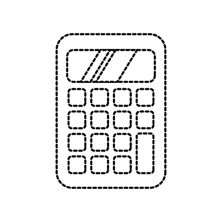 school calculator maths accounting icon vector illustration