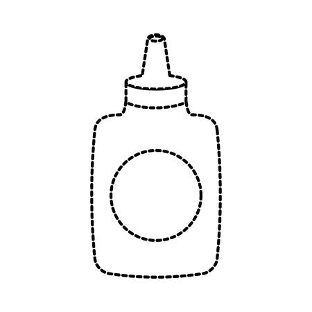 school bottle of latex glue tool stationery vector illustration