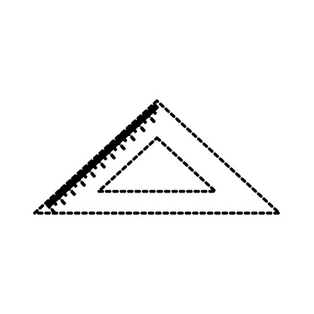 school ruler triangle geometry tool study vector illustration 向量圖像