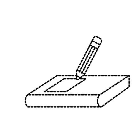 school book pencil education lecture symbol vector illustration