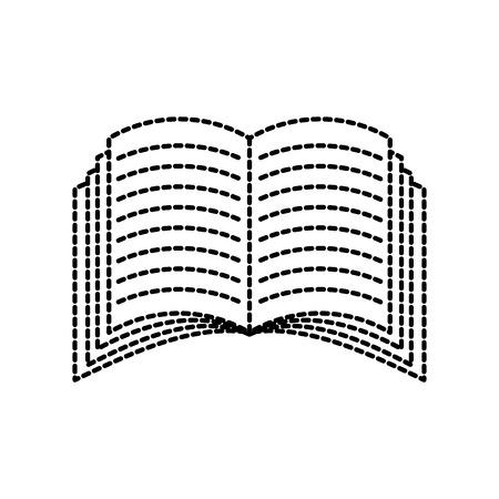 開いた本のアイコン教育知識講義シンボル ベクトル図を学習