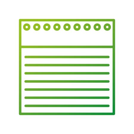 学校に戻ってノート並ぶ紙の穴ベクトル イラスト
