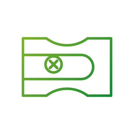 back to school sharpener plastic object icon vector illustration
