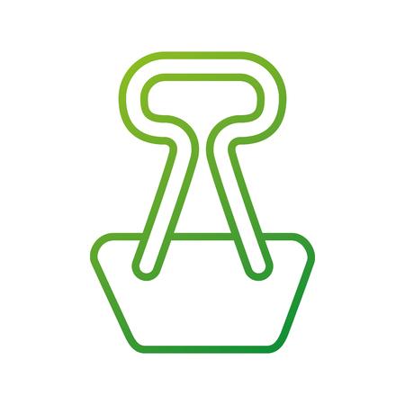 学校金属クリップひな形ベクトル図を添付  イラスト・ベクター素材