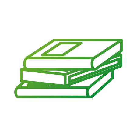 school stacked books learn encyclopedia library education vector illustration
