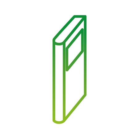 boek pictogram onderwijs kennis leren lezing symbool vectorillustratie