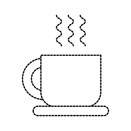 coffee cup disk hot beverage fresh vector illustration