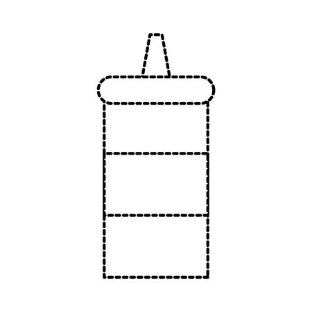 kitchen restaurant bottle sauce ingredient vector illustration