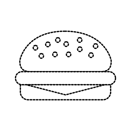 fast food burger delicious menu restaurant vector illustration Ilustracja