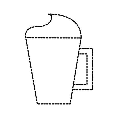 Kopje capuccino of koffie met crème vectorillustratie Stockfoto - 87678393