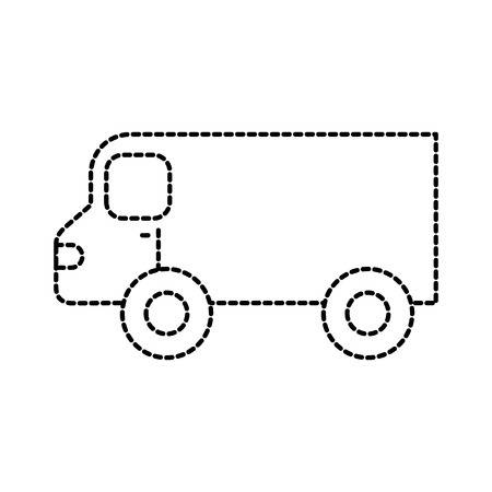 レストラン食品トラック輸送サービス ベクトル図  イラスト・ベクター素材