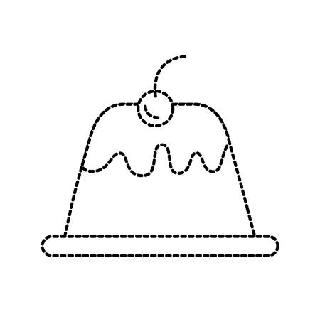 ベリーおいしいベクトル図とシロップのデザートのプリン  イラスト・ベクター素材