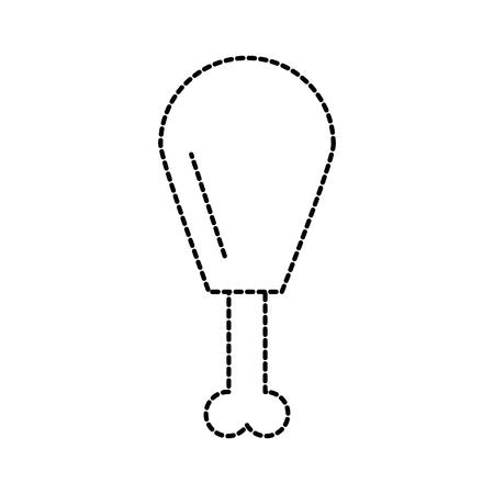 fast food chiecken thigh grill restaurant vector illustration