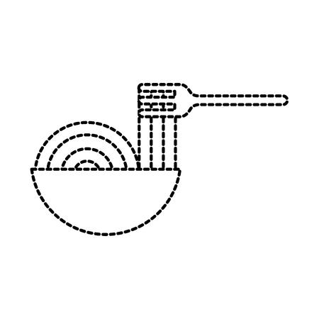 Ciotola di ristorante con illustrazione vettoriale di ingredienti alimentari forchetta Archivio Fotografico - 87674020