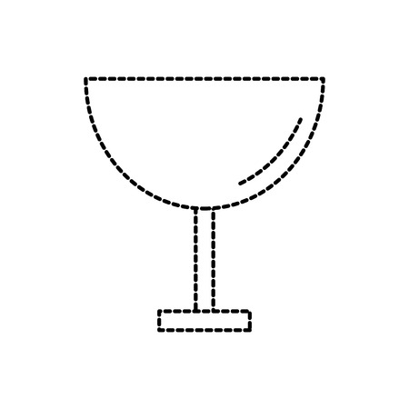 restaurant or bar glass cup beverage cocktail vector illustration Illustration