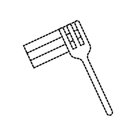 vork pictogram zilverwerk keuken restaurant symbool vectorillustratie Stock Illustratie
