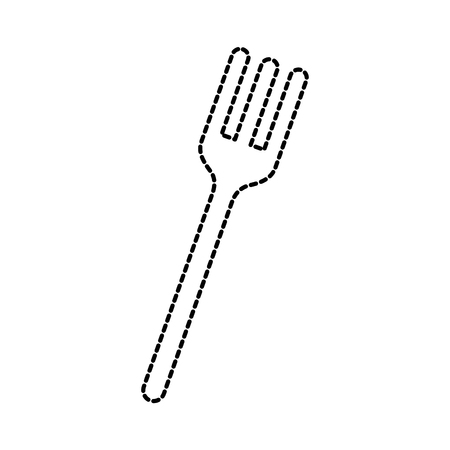 fork icon silverware kitchen restaurant symbol vector illustration Иллюстрация